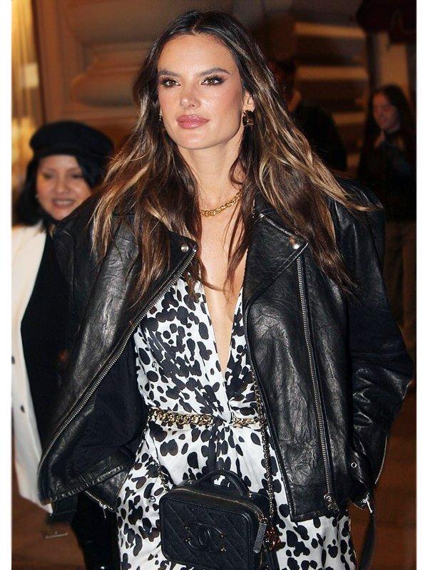 Alessandra Ambrosio Leather Jacket