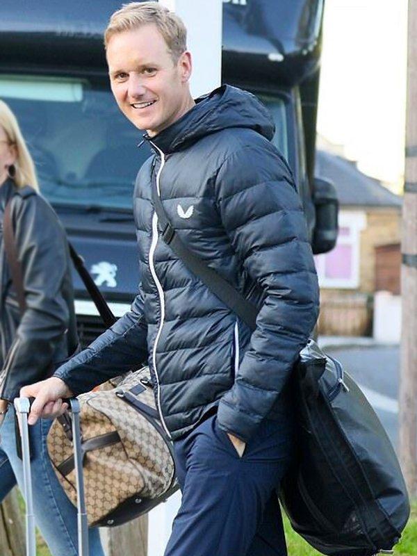 Dan Walker Blue Puffer Jacket with Hood