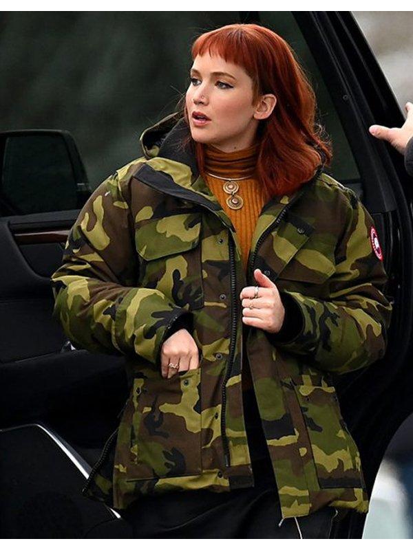 Don't Look Up Jennifer Lawrence Military Jacket