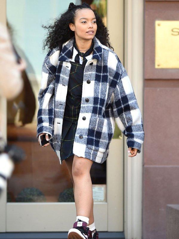 Gossip Girl Zoya Lott Checked Jacket