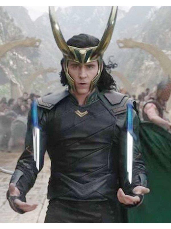 Thor Ragnarok Loki Black Leather Jacket