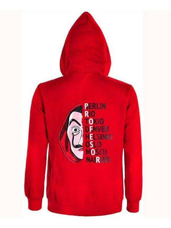 Tv Series Money Heist La Casa De Papel Costume Red Hoodie