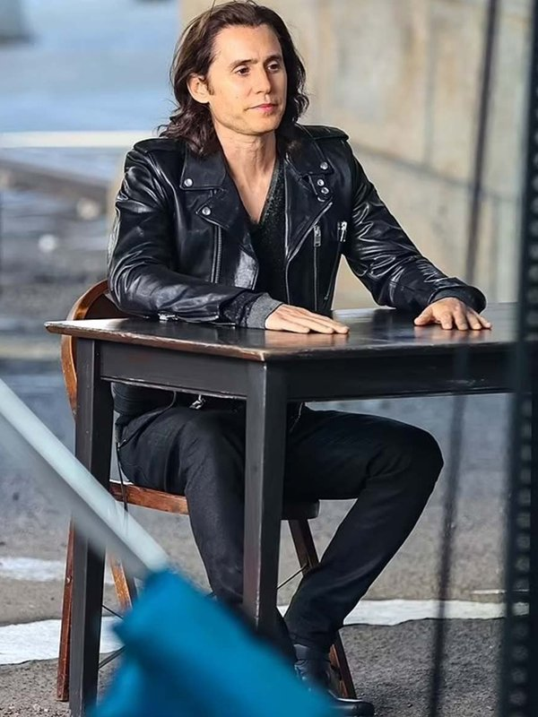 WeCrashed Jared Leto Biker Leather Jacket