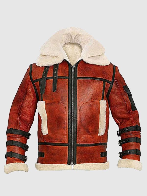 B6 Aviator Sheepskin Waxed Jacket