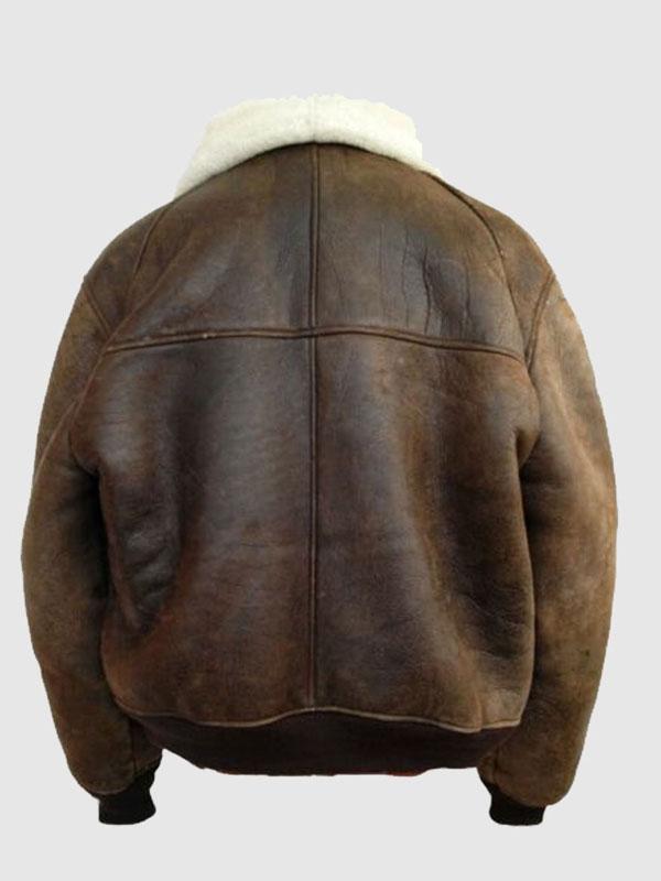 B3 Leather Bomber Pilot Aviator Jacket