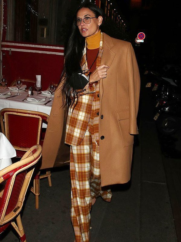 Demi Moore Brown Trench Coat