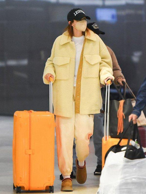 Gigi Hadid Shearling Coat