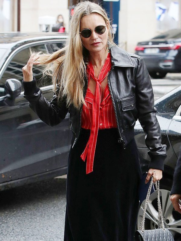 Kate Moss Cropped Leather Jacket