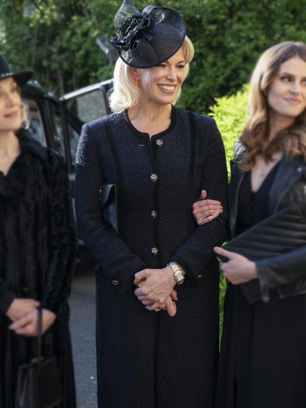 Ted Lasso Rebecca Welton Hannah Waddingham Black Long Coat