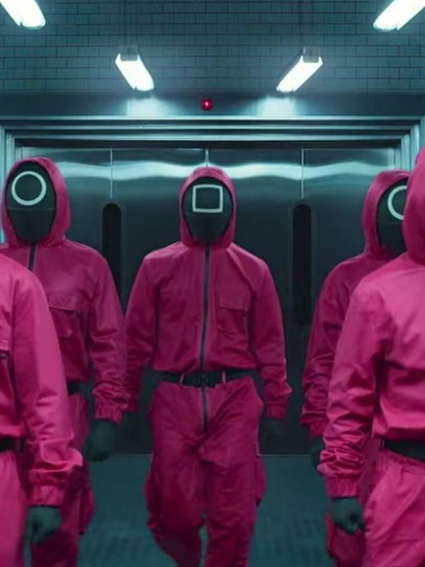 Tv Series Squid Game Guard Pink Jumpsuit