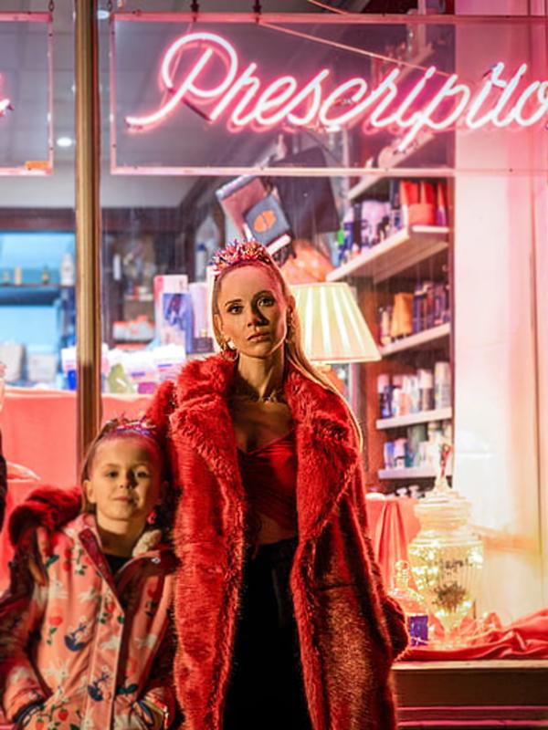 Tv Series Ted Lasso Keeley Jones Juno Temple Long Red Faux Fur Coat