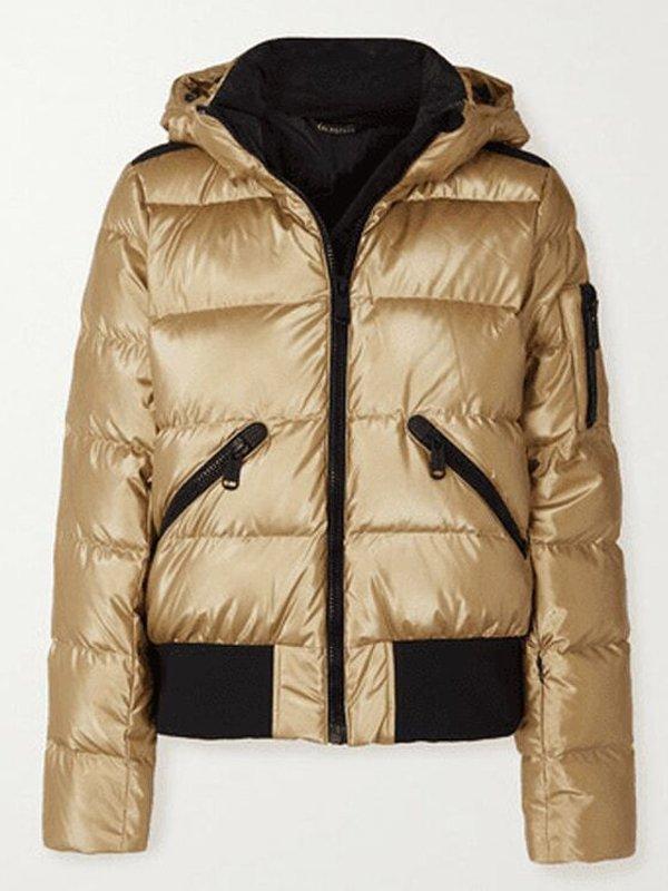 Tv Series Ted lasso Keeley Jones Juno Temple Golden Puffer Jacket