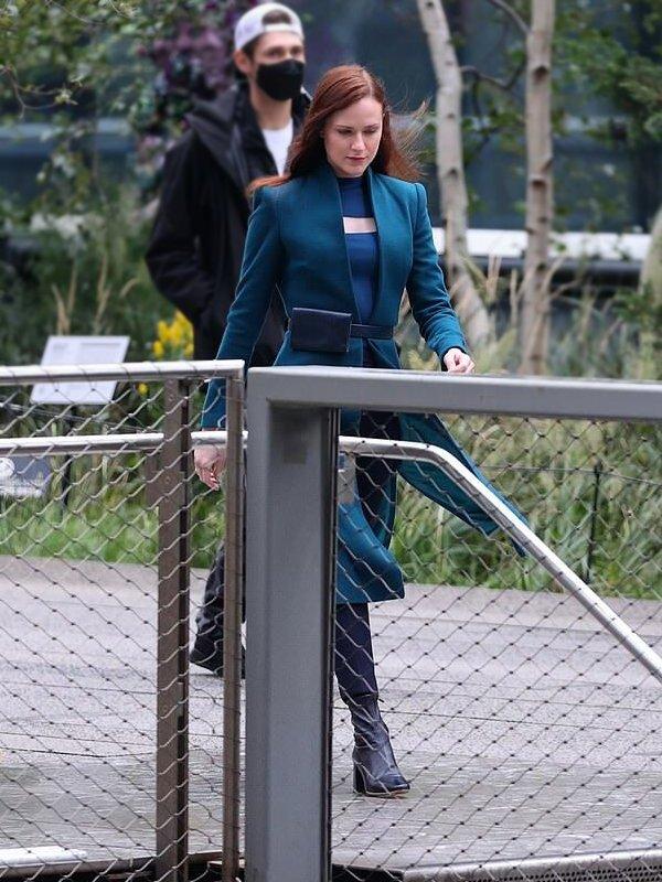 Westworld Evan Rachel Wood Green Trench Coat