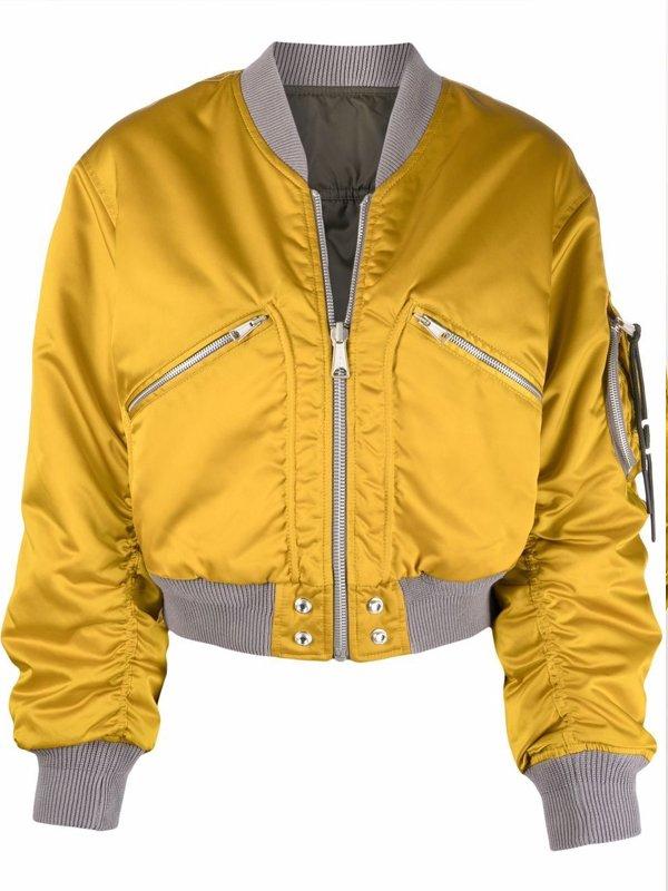 Women Reversible Cropped Bomber Jacket